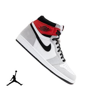 Jordan 1 Retro High Og White Black Light Smoke Grey Men S Shoe
