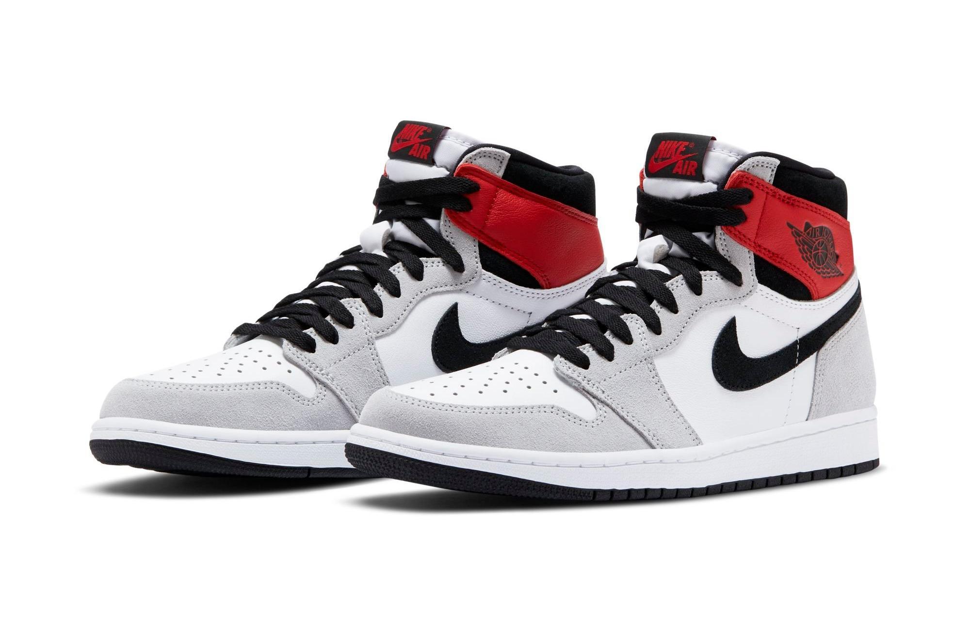 Sneakers Release Jordan 1 Retro High Og Light Smoke Grey White