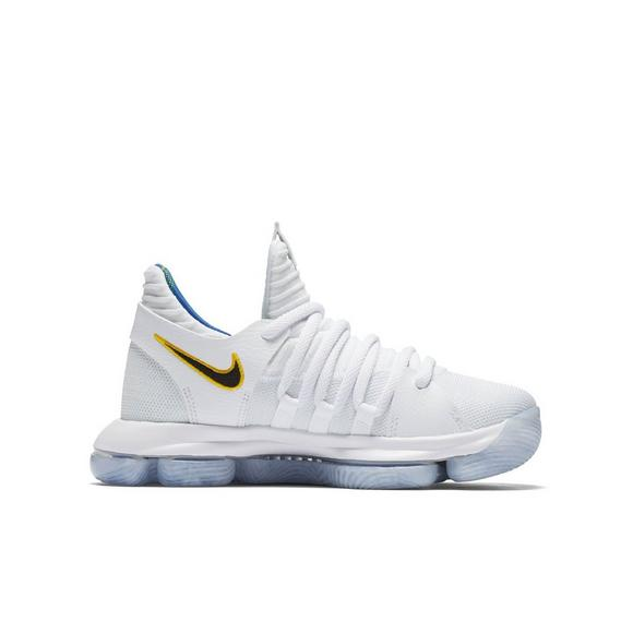 buy online a9a26 124c5 norway nike zoom kd 10 white royal grade school boys shoe main container  1005c d9cdd