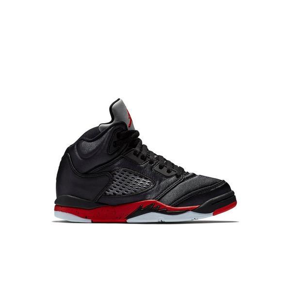 84c135034292 Display product reviews for Jordan 5 Retro -Black Satin- Preschool Kids   Shoe