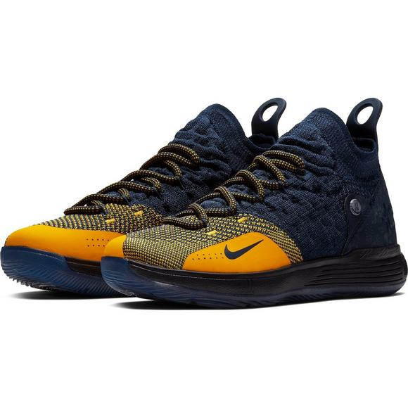 half off b83d4 a1c9a ... coupon for nike kd 11 college navy university gold grade school kids basketball  shoe 4327a d9c8f