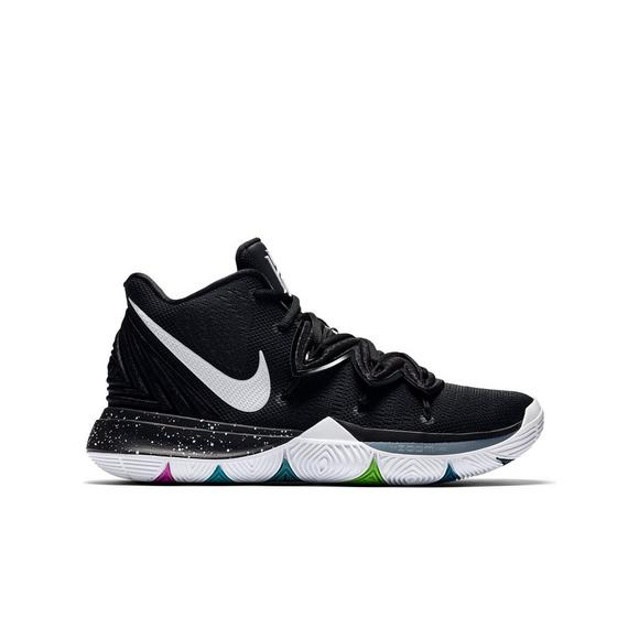 super popular c301f 70950 sale mens nike kyrie 1 blue green fluorescent white 4bb9e eaf97  low cost nike  kyrie 5 multicolor white grade school kids basketball shoe main 3c4b9 3ba45