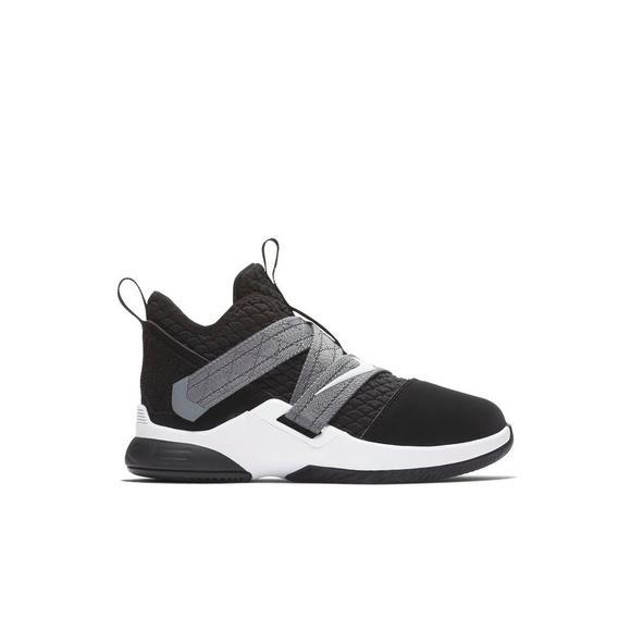 Nike Lebron Soldier Xii Sfg Blackwhite Preschool Kids Shoe