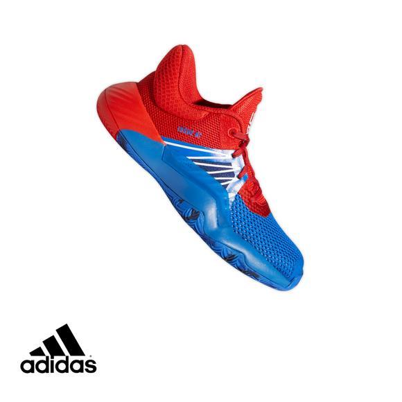 Adidas D O N Issue 1 Blue Red Preschool Kids Basketball Shoe