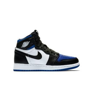 Jordan 1 Retro High Og Black White Game Royal Grade School Kids Shoe Hibbett City Gear