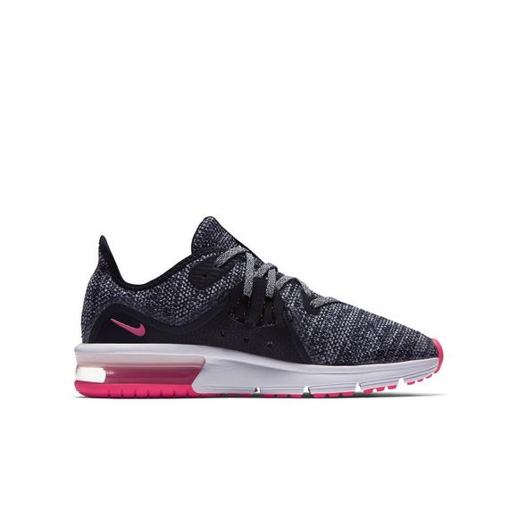 Nike Air Max Sequent 3 Grade School Girls  Running Shoe - Main Container  Image 2 57fcb91cb