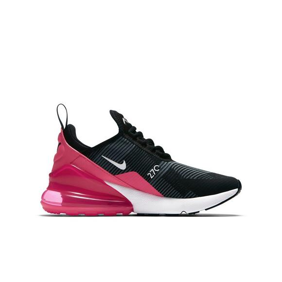 Nike Air Max 270 Knit Jacquard Grade School Girls' Shoe
