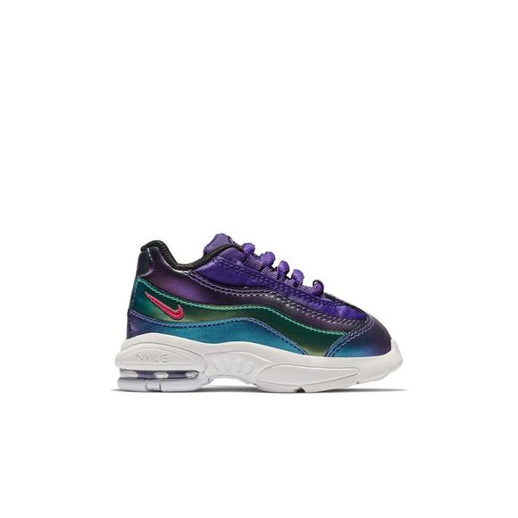 Grey and Pink Air Max 95 SE Sneakers