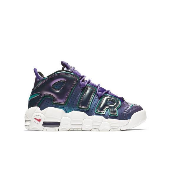 Nike Air More Uptempo Se Purplepink Grade School Kids Basketball