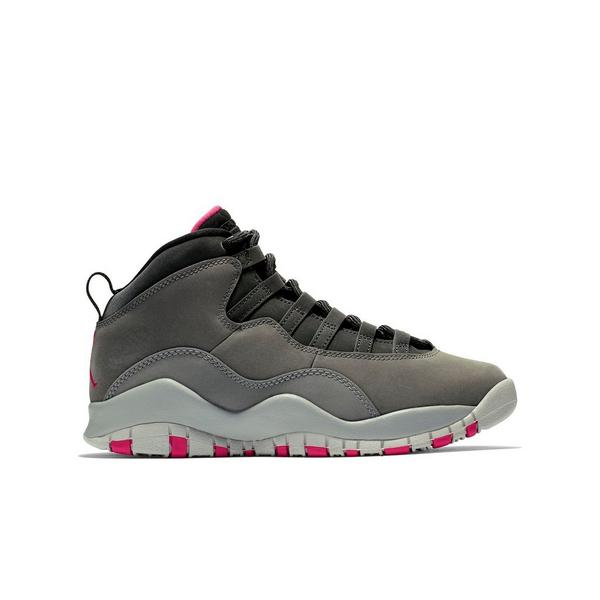 2bf15914c7e426 Display product reviews for Jordan 10 Retro -Smoke Grey Rush Pink- Grade  School