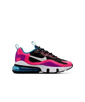 Nike Air Max 270 React Black White Hyper Pink Grade School Girls