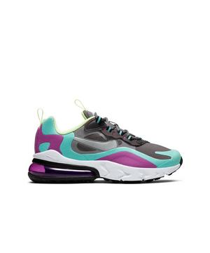 Nike Air Max 270 React Grey Purple Grade School Girls Shoe