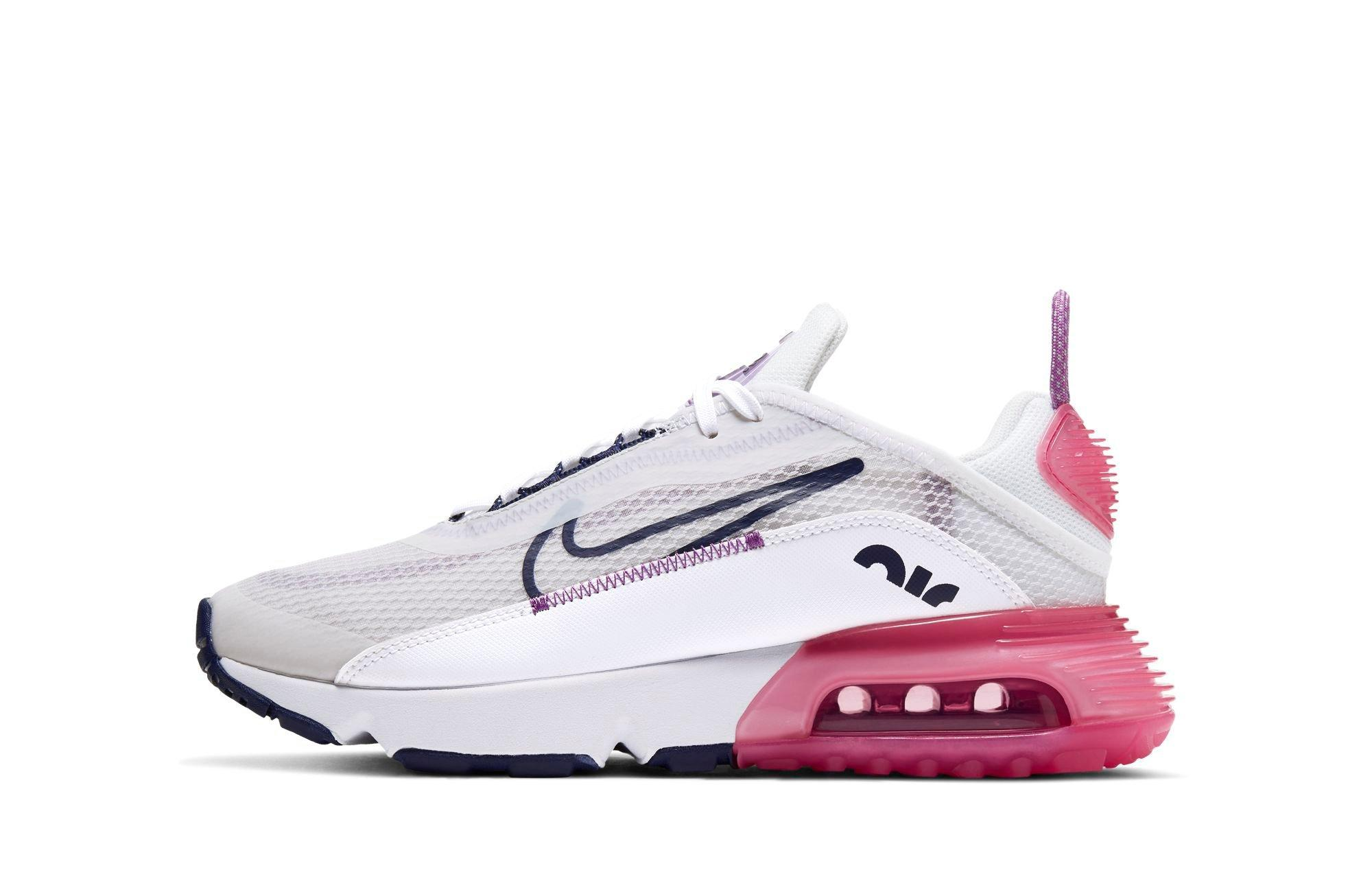 "Nike Air Max 2090 ""Platinum Tint/Blackened Blue/Watermelon"" Grade School Kids' Shoe"