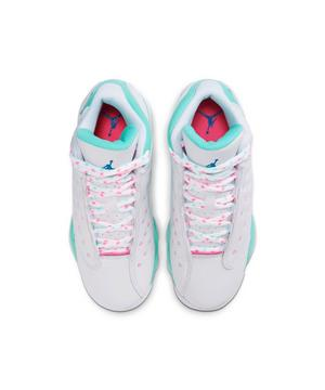 Jordan 13 Retro White Soar Aurora Green Grade School Girls Shoe Hibbett City Gear