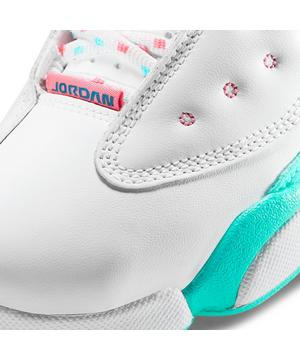 Jordan 13 Retro White Soar Aurora Green Preschool Girls Shoe Hibbett City Gear