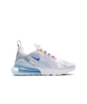 Nike Air Max 270 White Blue Grade School Girls Shoe Hibbett City Gear