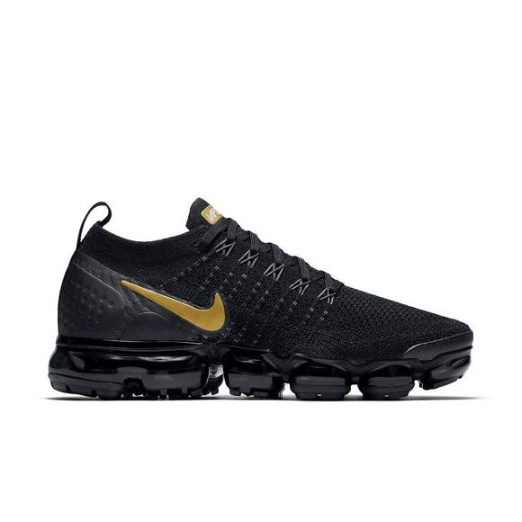 detailed look 358eb 66408 ... official nike air vapormax flyknit 2 black metallic gold womens shoe  main container 7fa8c f8a82