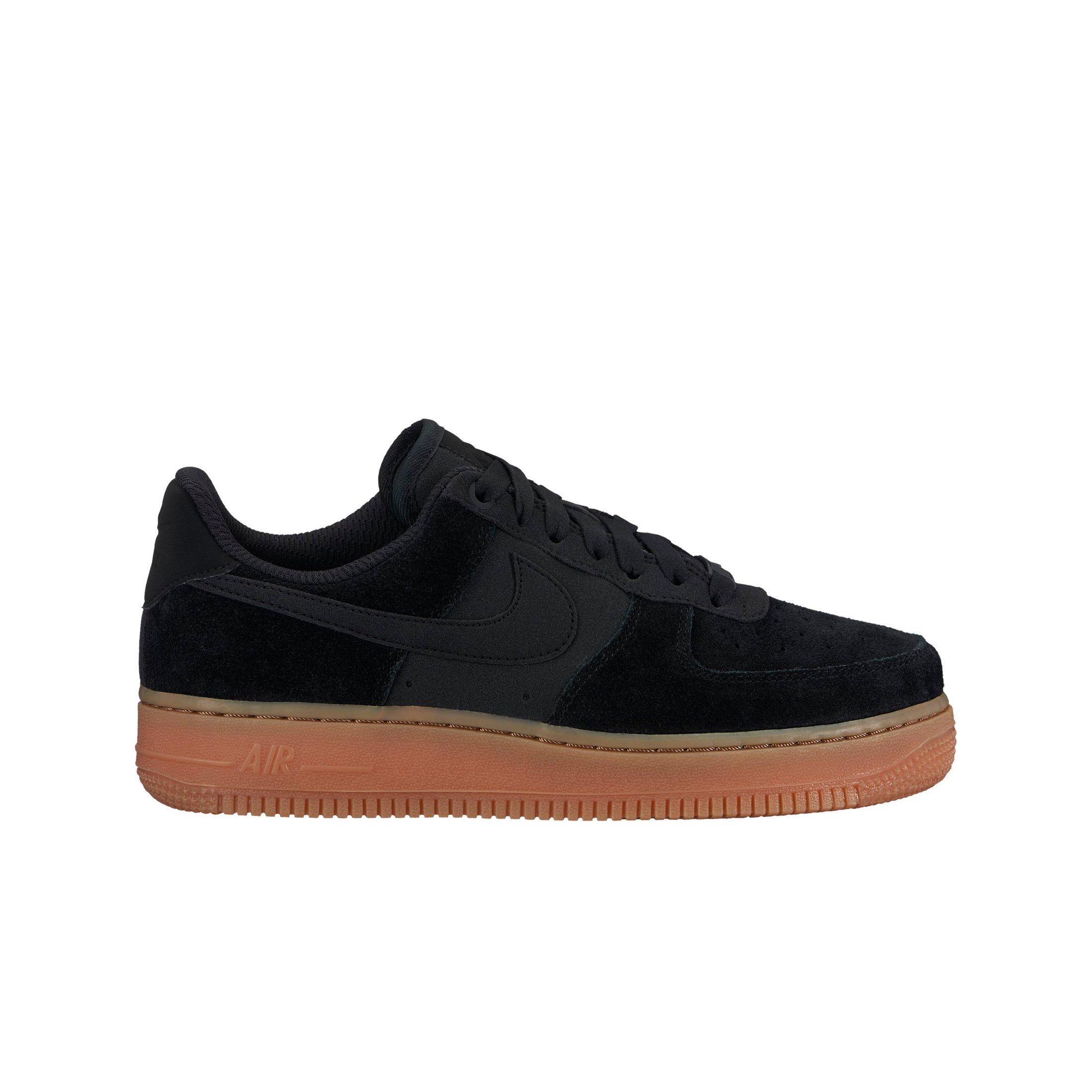 Nike Air Force 1 07 Se Femmes Noir / Gomme Chaussure De Basket-ball réduction 2015 à la mode Orange 100% Original explorer sortie achat Sw082ggiX