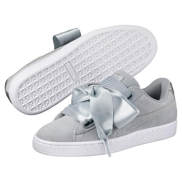 05fe43ec6fcd Display product reviews for Puma Basket Heart Metallic Safari -Grey-  Women s Casual Shoe