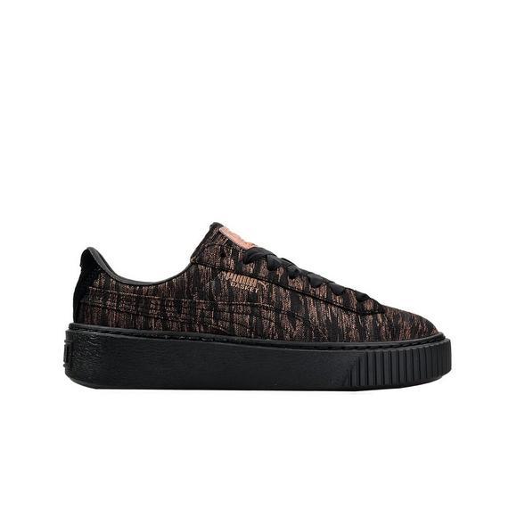 puma basket platform black