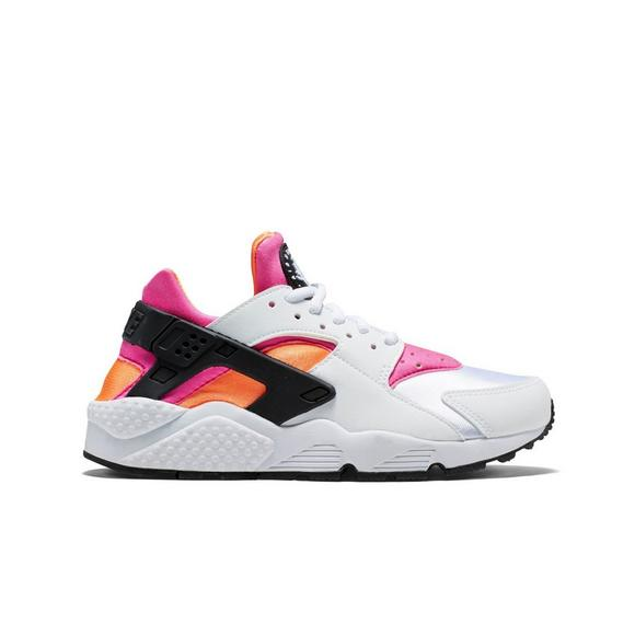 pink and white huaraches