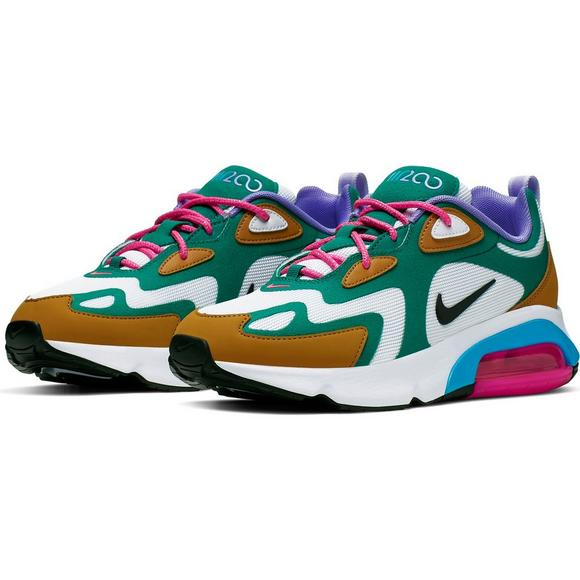 Women's Air Max 200 in Mystic Greenwhite Gold Suede Light