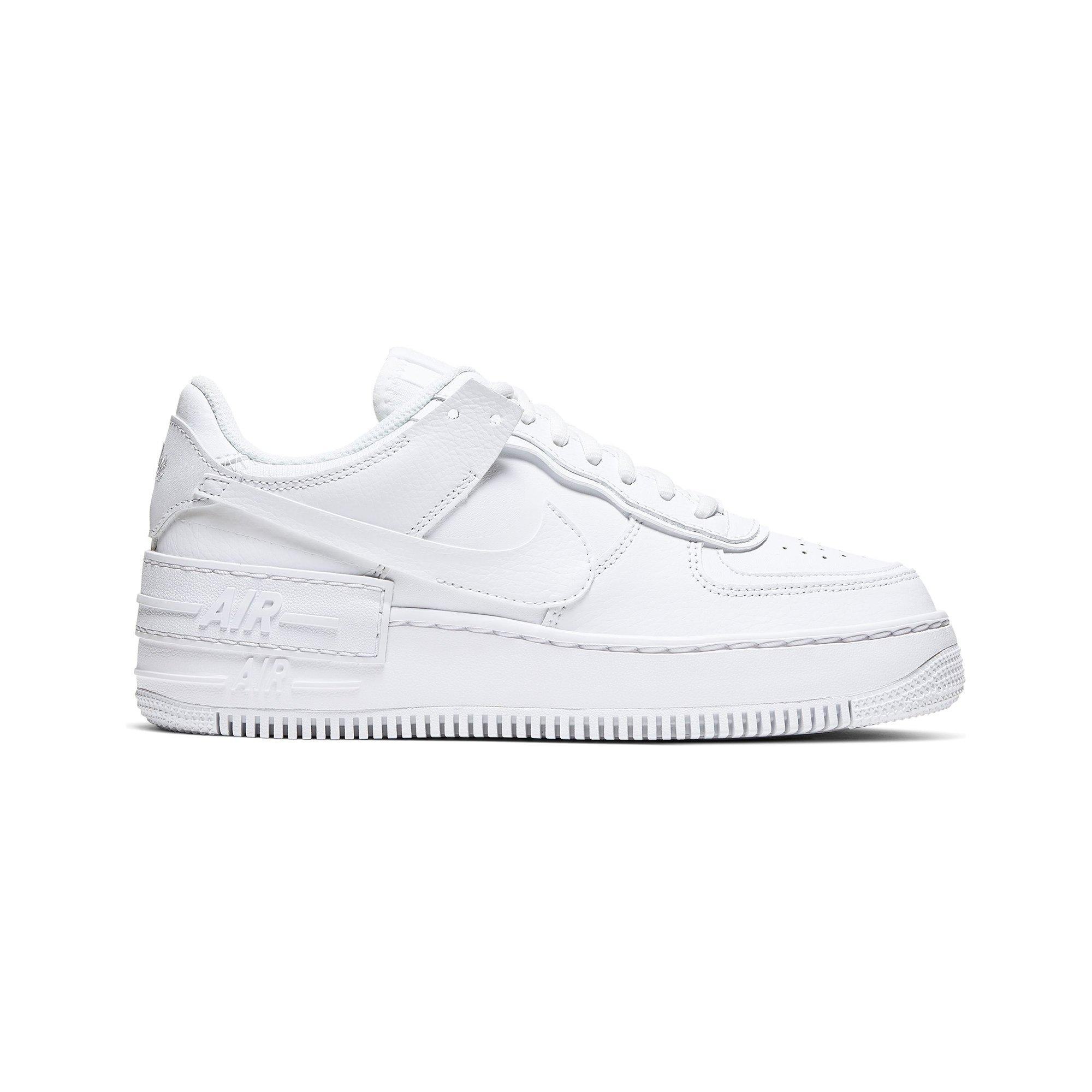 Nike Air Force 1 Shadow White Women S Shoe Hibbett City Gear There's no question about it, women's versions of the nike air force 1s have become a. nike air force 1 shadow white women s shoe