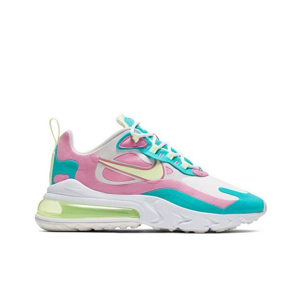 Nike Air Max 270 React White Volt Pink Teal Women S Shoe