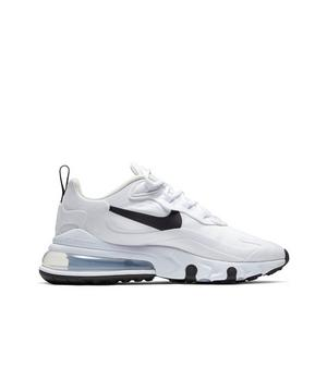 Nike Air Max 270 React White Black Metallic Silver Women S Shoe