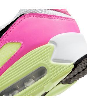 Nike Air Max 90 White Black Pink Blast Ghost Green Women S Shoe