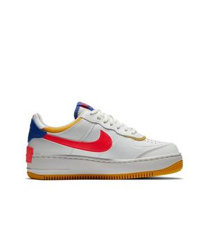 Nike Air Force 1 Shadow Summit White Astronomy Blue Red Yellow