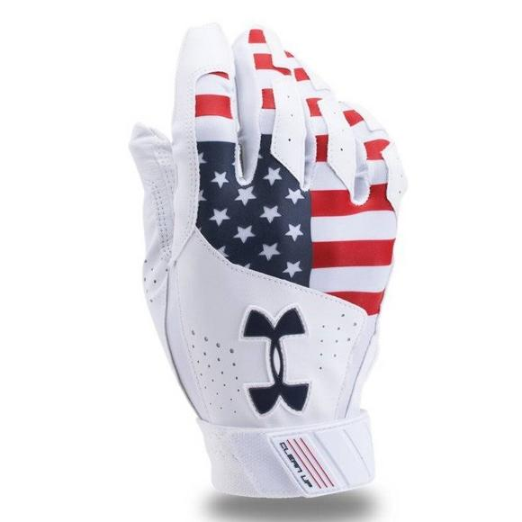47ce3cc58b3 Under Armour Adult Batting Gloves Clean Up USA - Main Container Image 1