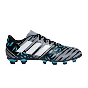 6f7d8b140f17 adidas Nemeziz Messi 17.4 FXG Grey/Blue/Black Men's Soccer Cleats