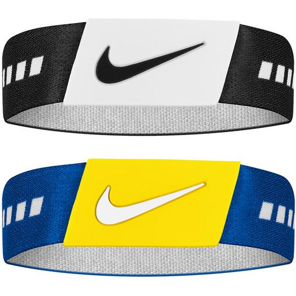 100% authentic ba52c 9fe89 Nike 2PK Blue Yellow and Black White Baller Bands - Main Container Image 2