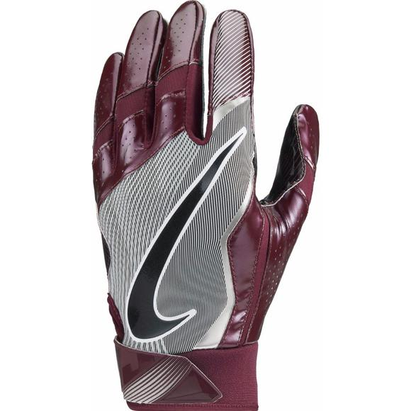 meet abb07 642d4 Nike Adult Vapor Jet 4.0 Receiver Gloves Maroon - Main Container Image 1