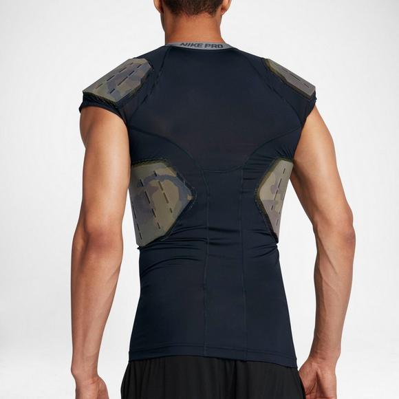 4f86994b Nike Men's Pro Combat Hyperstrong 4-Pad Camo Football Shirt - Main  Container Image 2