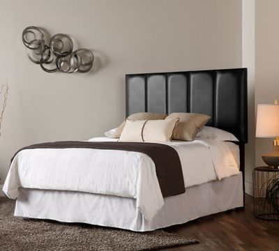 Miller Headboard in Black Leather