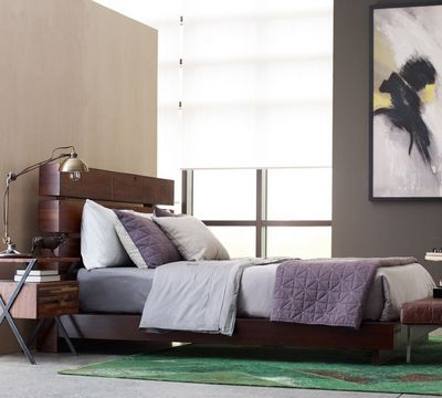 Bina Iggy Rustic Modern Wood Bed