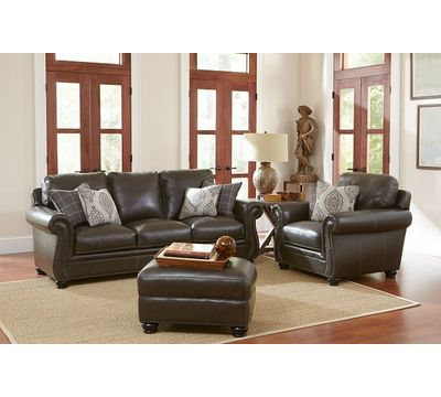 Charleston Leather Sofa in Ghost Gray