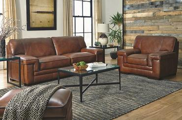 Macco Leather Loveseat