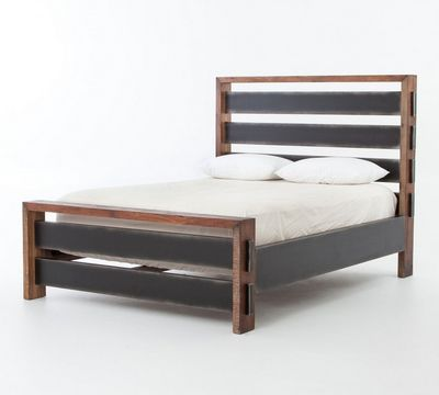 Bina Sean Rustic Modern Wood Bed