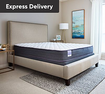 Sleepy's Hush 10 Inch Firm Encased Coil Mattress