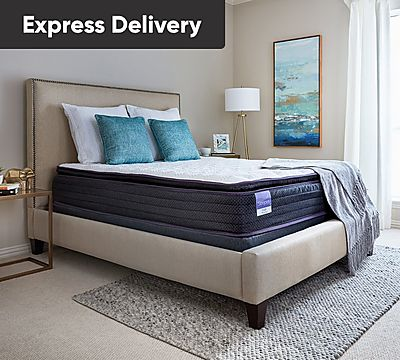 Sleepy's Hush 11 Inch Pillow Top Encased Coil Mattress