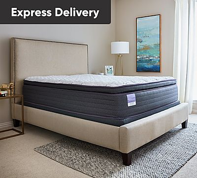 Sleepy's Slumber 13.5 Inch Pillow Top Encased Coil Mattress