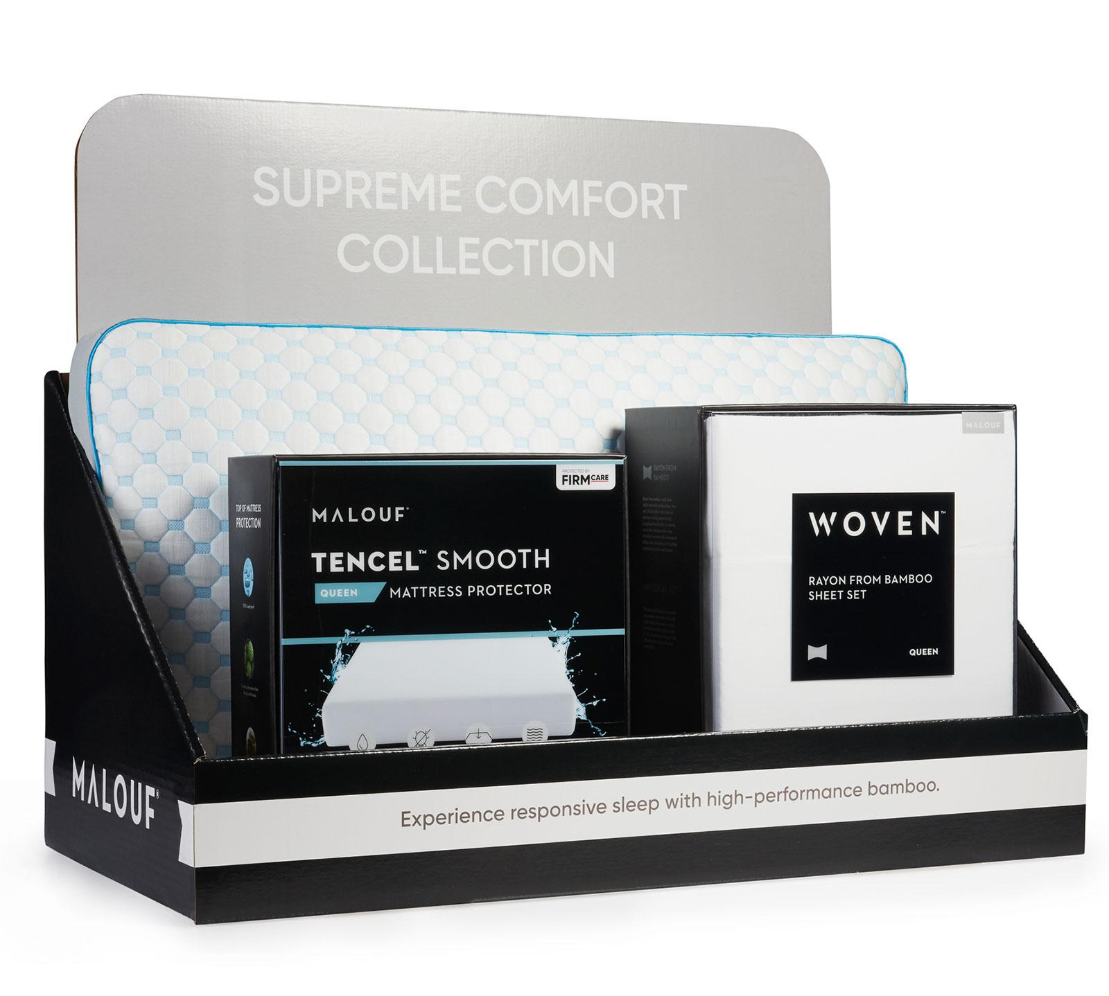 Malouf California King Supreme Sleep Bundle