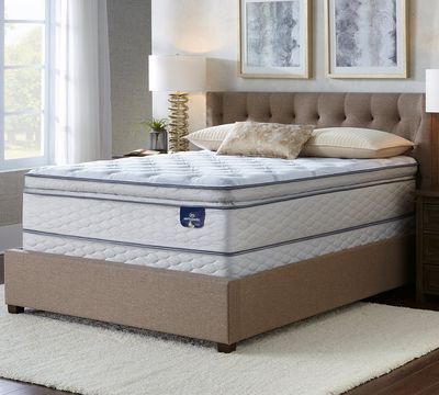 Serta Sertapedic Silverstone 12.25 Inch Plush Pillow Top Memory Foam Mattress