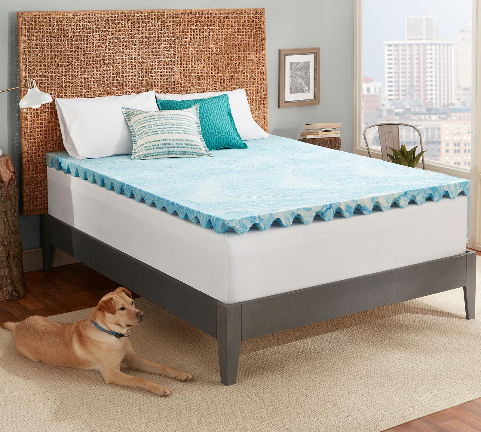 Cool Deluxe 3 Inch Gel Memory Foam Mattress Topper