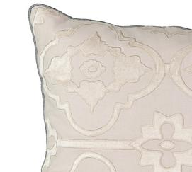 La Salle Applique Decorative Pillow