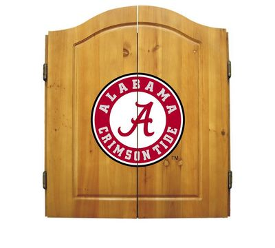 NCAA Bristle Dart Board and Cabinet Set