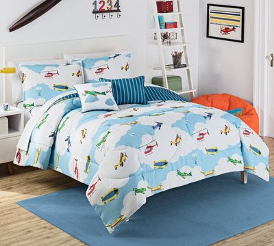 In the Clouds Reversible Comforter Set